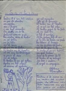 Poesia  al santin cevo (2)